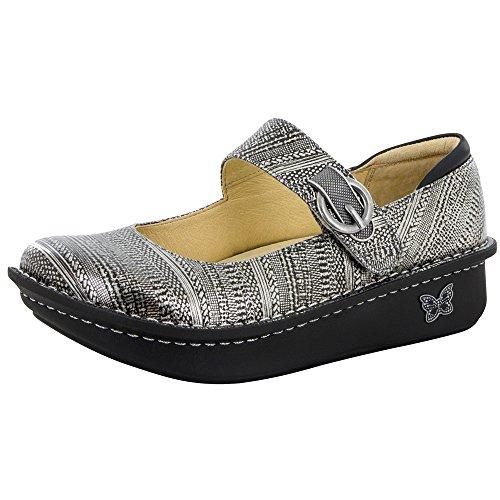 Alegria Paloma Wegde Flat Mary Jane Clog Shoe - Chain Mail - Womens - 38 (Alegria Shoes Paloma compare prices)