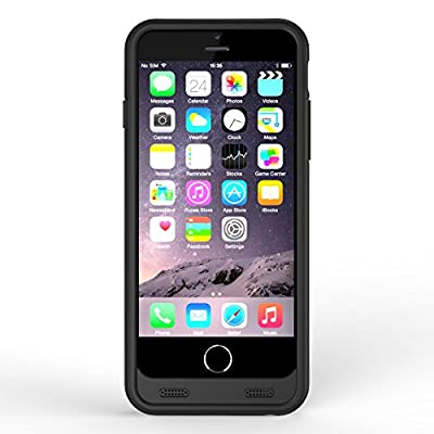 iPhone 6/6s Battery Case [Apple MFi Certified], ZeroLemon 3100mAh Slim Juicer Double Layer Extended Battery Charging Case for iPhone 6/6s 4.7? , (Fits All mobile carriers of iPhone 6/6s - Lightning Connector Output, MicroUSB Input)-Black by ZeroLemon