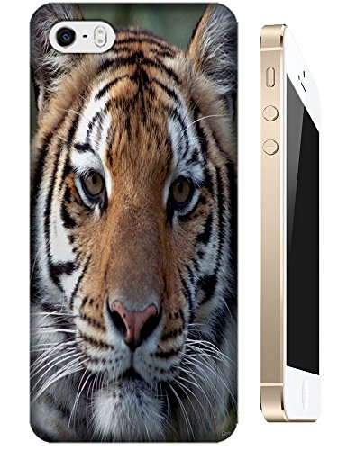Lovely Power Tigers Cases Covers Phone Hard Back Cases Beautiful Nice Cute Animal Hot Selling Cell Phone Cases For Apple Accessories Iphone 5/5S # 7