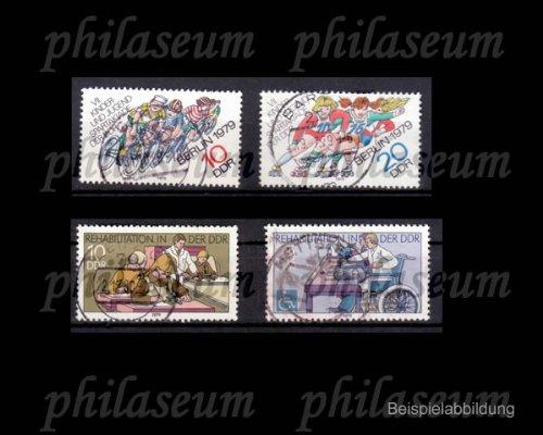 Briefmarken: DDR 2433-2434, 2431-2432 Bogenentwertung gestempelt 1979, Sondermarken