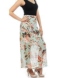 Myrah Women's Pleated Skirt (Amz004_Multicolor_M)