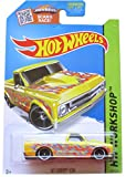 Hot Wheels HW Workshop 208/250 '67 Chevy C10 Yellow with Orange Flames