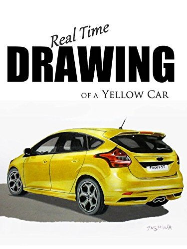 Real Time Drawing of a Yellow Car
