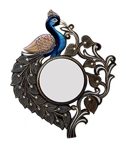 Divraya Wood Peacock Wall Mirror (53.34 Cm X 4 Cm X 63.5 Cm)