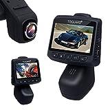"""TOGUARD 2.45"""" LCD ステルス ダッシュカメラ FHD 1080P カーカム DVR道レコーダー 、170°広角、回転レンズ、Gセンサー、ループ記録、駐車モニター"""