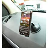 ZS Stick Anywhere Multi Surface Suction Car Dashboard Mount with Universal Stick-On Holder for Blackberry Bold 9780