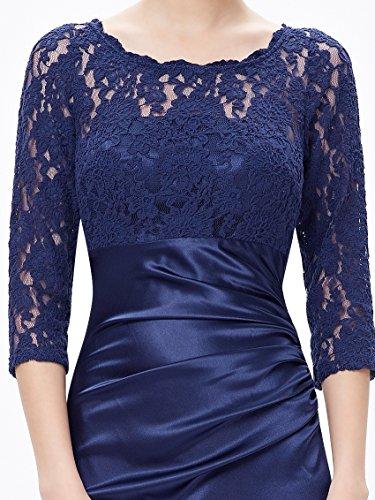 Ever Pretty Elegant Lace Long Sleeve Formal Floor Length Evening Dress 09882