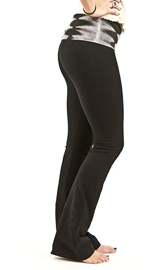 Hard Tail Contour Roll Down Bootleg Flare Pants