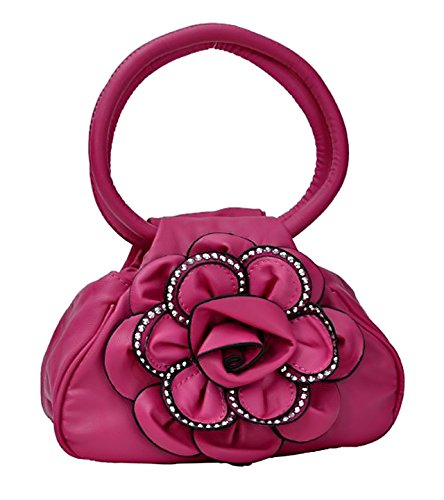 eyecatch-nina-ladies-studded-flower-handbag-fushia