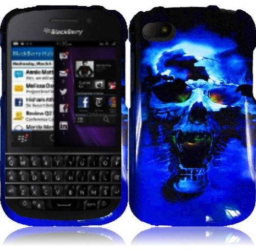 Blackberry Q10 Phone Case Accessory Icey Skull Hard Snap On Cover With Free Gift Aplus Pouch
