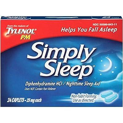 Simply Sleep Night Time Sleep Aid Caplets