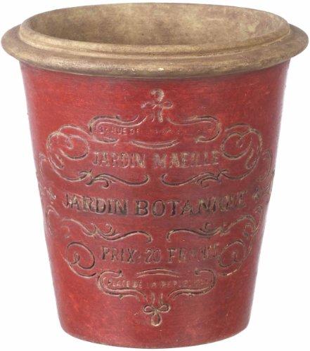 Ceramic Rustic Flower / Plant Pot - Red