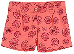 Aristot Girls' 8 Years Cotton Shorts (01G015B, Pink)