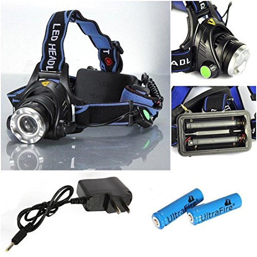 Overwhelming Modern 3-Modes LED 2000LM Headlamp Portable Tactical Headlight Flashlight Color Black with Battery Charger (Motorized Oil Lamps compare prices)