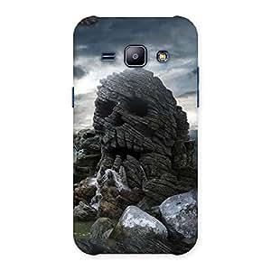 Premium Skull Rock Back Case Cover for Galaxy J1