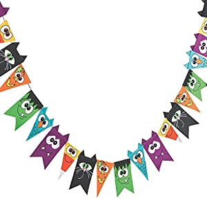 Felt Halloween Pennant Party Banner by Fun Express