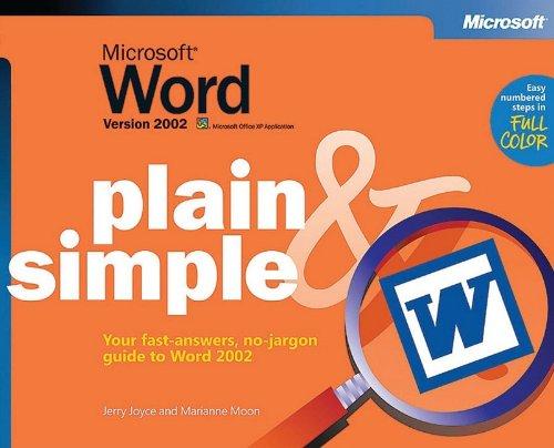 Microsoft® Word Version 2002 Plain & Simple (Bpg Plain & Simple)