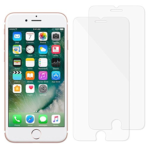 iPhone 6 Plus / 6S Plus Screen Protector, MOFI Tempered Glass Screen Protector with HD Clear 9H 2.5D Round Edge for Apple iPhone 6 Plus / 6S Plus (5.5 Inch) (2-Pack)