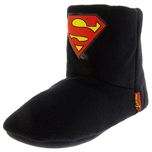 Superman - Dc Comics Uomo Blu Marino Caldi Foderate Pantofole Stivaletti EU 43-44