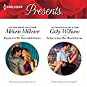 Engaged to Her Ravensdale Enemy & Seduced into Her Boss' Service Audiobook by Melanie Milburne, Cathy Williams Narrated by Carolyn Morris, Tim Campbell