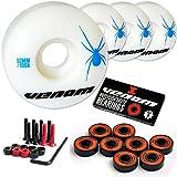 Venom Skateboard Wheels 52mm & Abec 9 Bearings Plus FREE Bolts