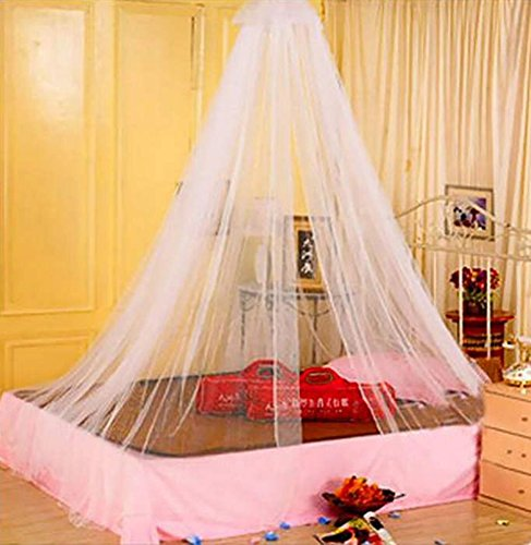 Amaranteen - 1Pcs Elegant Round Lace Insect Bed Canopy Netting Curtain Dome