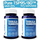 2x Tribulus Terrestris 1000mg X 90 Tablets, 95% Steroidal Saponins, 80% Protodioscin (25% BULK SAVINGS)