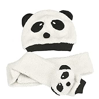 Bestpriceam® Toddler Baby Girl Boy Cap Cute Panda Kids Hat + Scarf Set Keep Warm