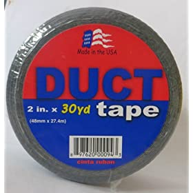 "Utility Grade Duct Tape, 30 yards Length x 2"" Width (Pack of 6)"