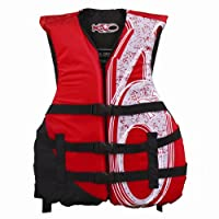 X20 Universal Adult Life Jacket Vest - Red & Black from Exxel Outdoor