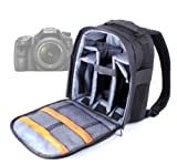 High Quality SLR / DSLR Camera Backpack / Rucksack With Adjustable Padded Interior For Sony A37 / SLT-A37 / SLT-A37K / A57 / SLT-A57 / A65 / A77 / SLT-A77VQ / A99