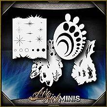 Mini Free Hand Set AirSick Airbrush Stencil Template