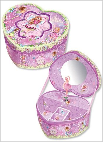 Pecoware / Heart-shaped Musical Jewelry Box, Fairyland Picture