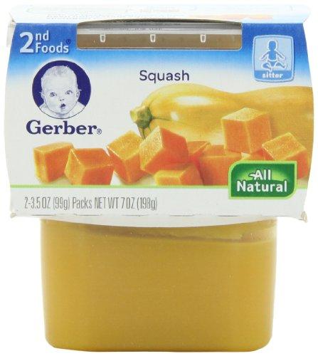 Gerber 2Nd Foods Vegetables - Squash - 3.5 Oz - 2 Ct - 8 Pk