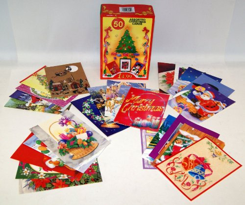 Box Of 50 Assorted Christmas Cards With Envelopes