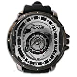 Hot New Custom Mazda RX-8 Engine Rotary Sport Wristwatch Sport Big Face Rubber Band