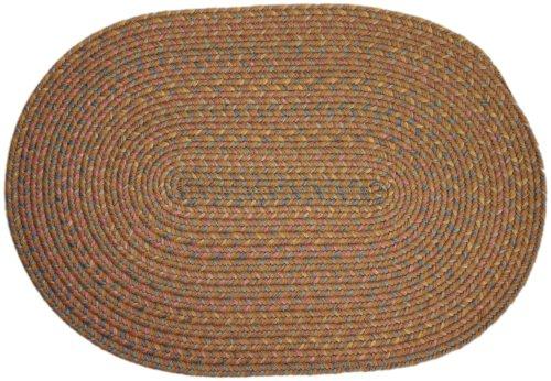 Rhody Rug Bloomfield Braided Rug, 2 by 3-Feet, Gold