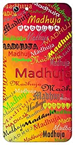 Madhuja (Popular Girl Name) Name & Sign Printed All over customize & Personalized!! Protective back cover for your Smart Phone : Apple iPhone 6