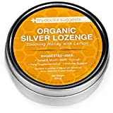 Organic Silver Lozenges - Soothing Honey with Lemon: The Perfect Cough Drop for Cough, Throat & Mouth Health or Even Daily Supplementation and Immune Support - Contains 30ppm Silver Solution in Each Drop - My Doctor Suggests Brand