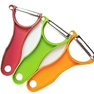 Mica Trio Stainless Steel Peeler Set,…