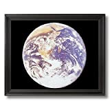 Nasa Space Photo Of The Earth From The Moon Home Decor Wall Picture Black Framed Art Print