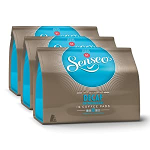 Shop for Senseo Decaffeinated, Design, Pack of 3, 3 x 16 Coffee Pods by Douwe Egberts