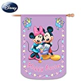 Mickey & Friends Happy Easter Decorative Flag by The Hamilton Collection