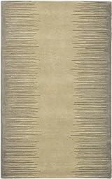 Ecarpet Aurora Gray/Khaki RUG 5\'-0\