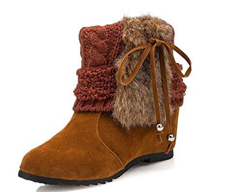 SHIXR Le signore gišŽ attraverso la nuova moda europea per l'autunno/inverno alta prua Stivaletti Doposci , brown , 37