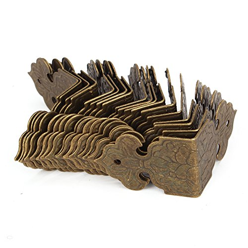 BQLZR Bronze Vintage Guards Desk Edge Box Corner Cover Protectors Antique Pack Of 20 0