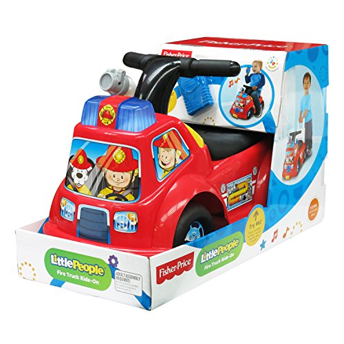 fisher price little people fire truck ride on epic kids toys. Black Bedroom Furniture Sets. Home Design Ideas