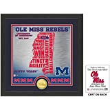 "NCAA Mississippi Old Miss Rebels ""State"" Bronze Coin Photo Mint, 18 "" X 14"" X 3"", Bronze"