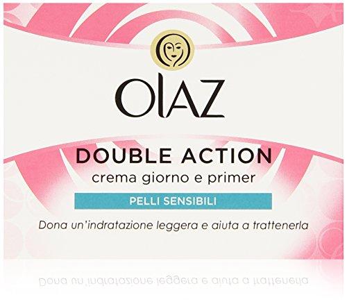 Olaz - Double Action, Crema Giorno e Primer, Pelli Sensibili , 1 pz.