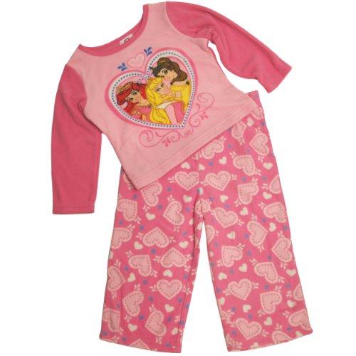 Disney Girls 2T-4T Princess Microfleece Pajama Set (2T, Pink) front-91850